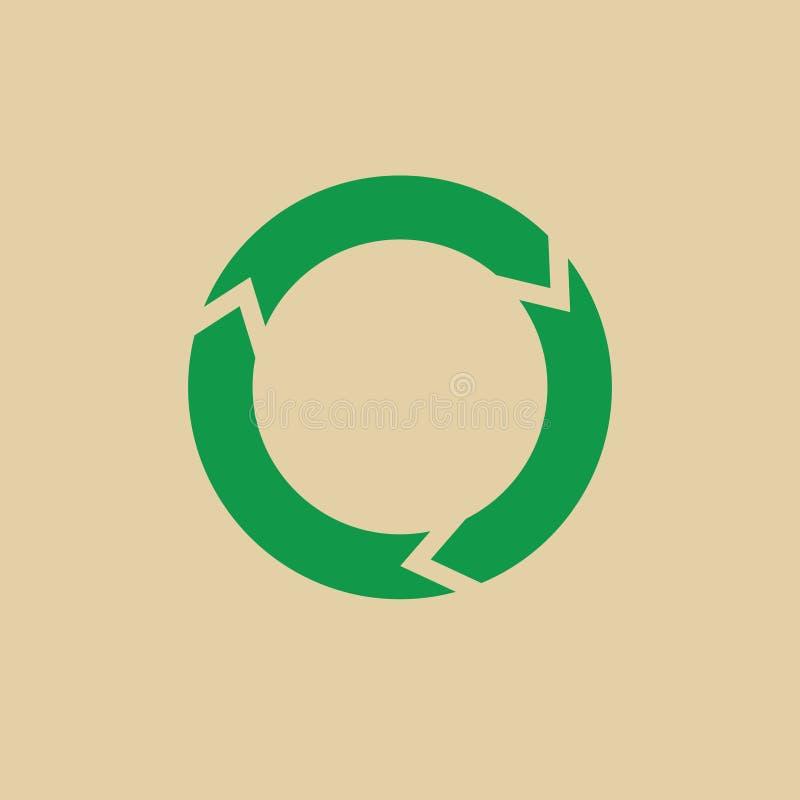 Recicle las flechas verdes Logo Web Icon del símbolo stock de ilustración