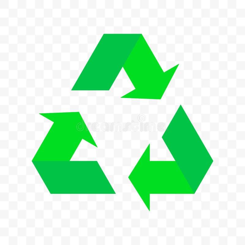 Recicle o ícone do ciclo da seta do triângulo do vetor A reutilização do desperdício de Eco ou bio reciclam o símbolo das setas ilustração do vetor
