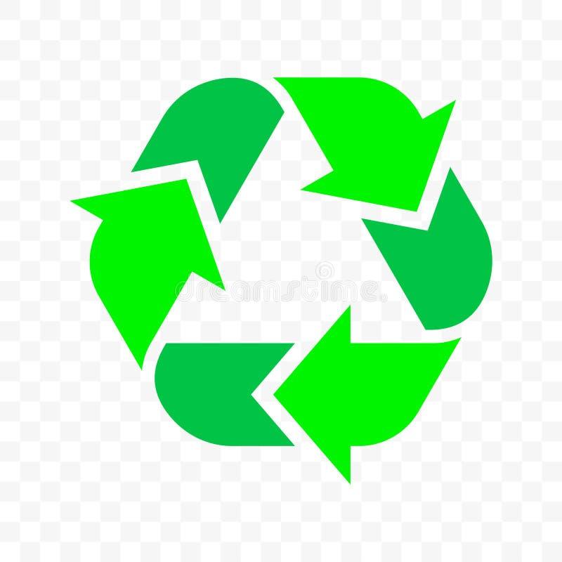 Recicle o ?cone do vetor do esbo?o da seta do tri?ngulo O desperd?cio de Eco e a reutiliza??o org?nica do pacote reciclam o s?mbo ilustração royalty free