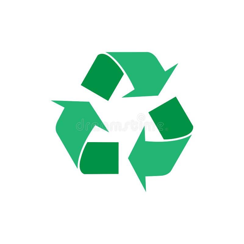 Recicle o ícone do vetor O estilo é símbolo liso, ângulos arredondados, fundo branco Ilustração do vetor, projeto liso ilustração stock