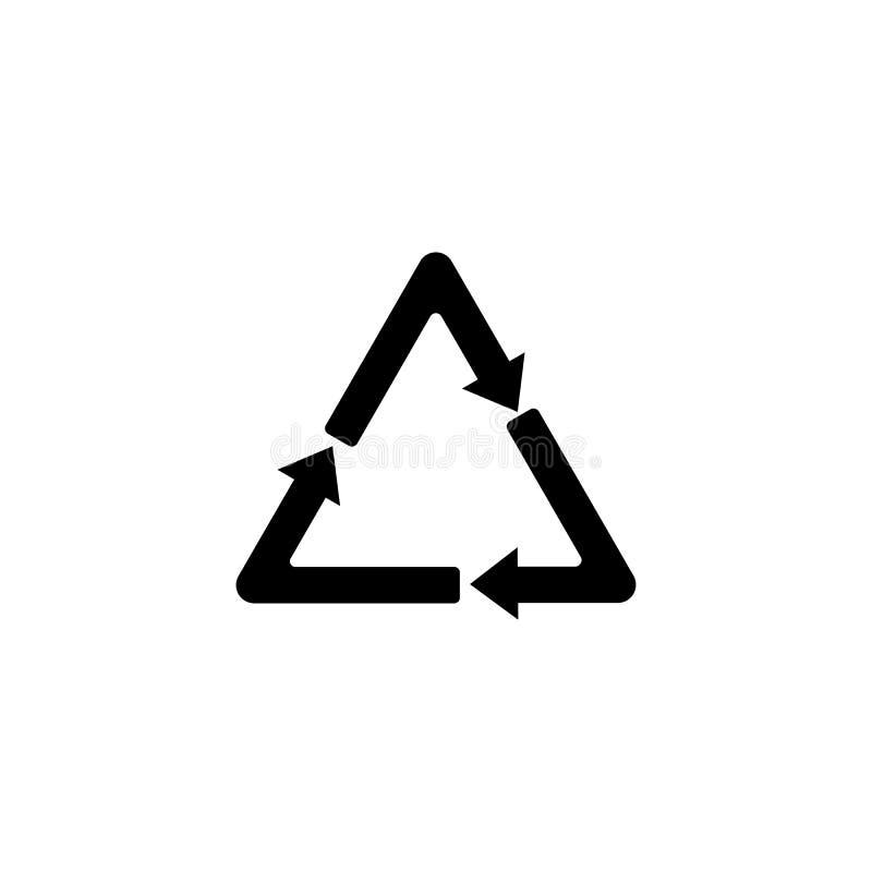 Recicle o ícone no estilo liso na moda isolado no fundo recicle o símbolo da página do ícone para seu projeto da site reciclam o  ilustração stock