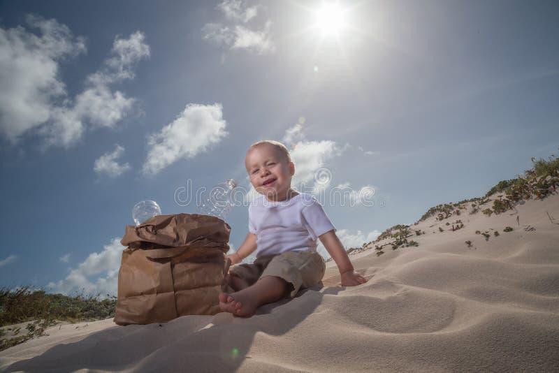Recicle o bebê number1 foto de stock royalty free