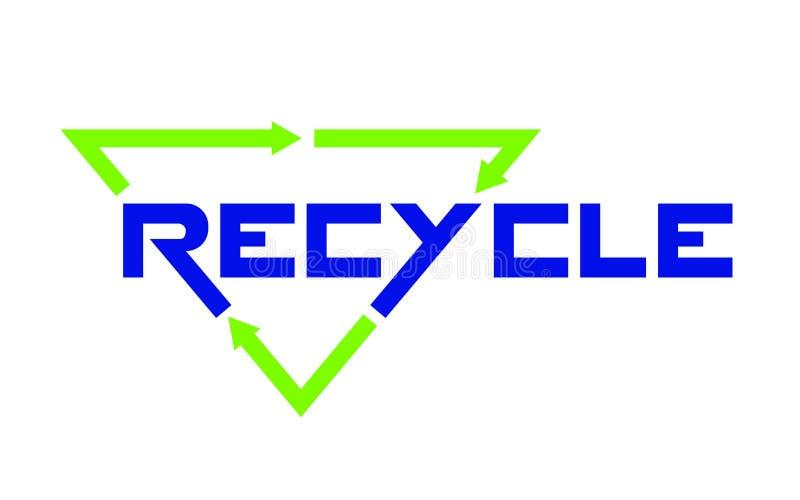 Recicle o emblema no fundo branco ilustração do vetor
