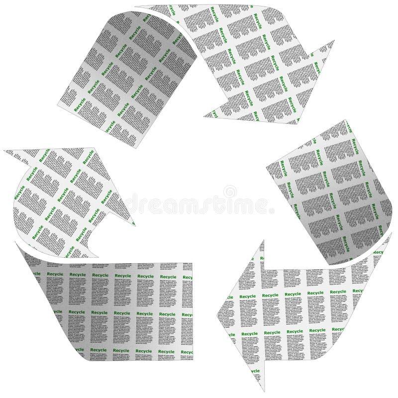 Recicle o símbolo do jornal ilustração stock