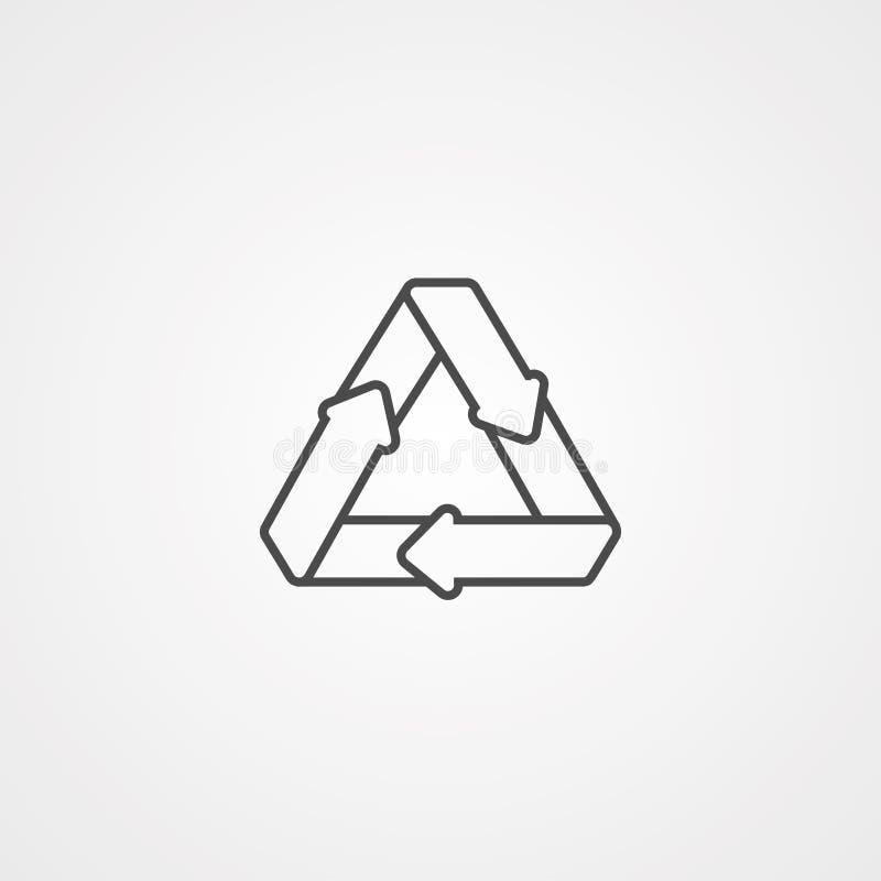 Recicle o símbolo do sinal do ícone do vetor ilustração royalty free