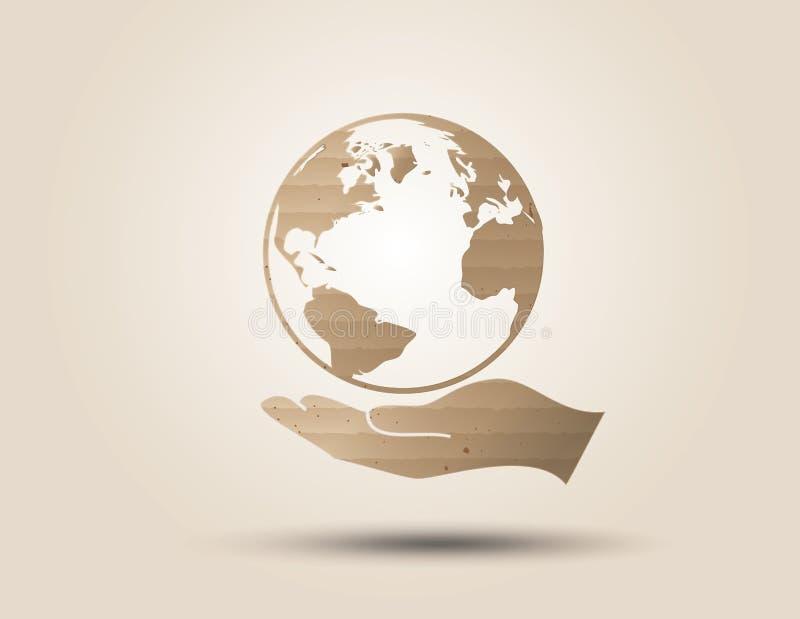 Recicle o símbolo ou o sinal da conservação ilustração stock