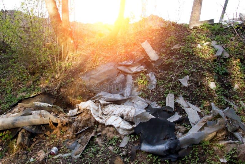 Recicle o treinamento limpo da sucata waste do lixo do lixo dos desperdícios da maca fotografia de stock royalty free