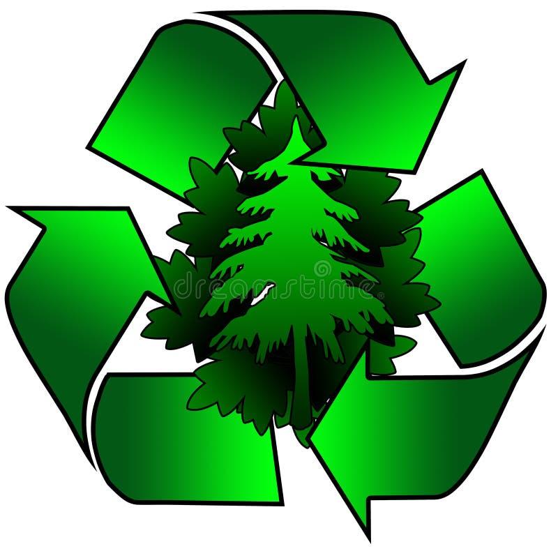 Recicle para el ambiente stock de ilustración