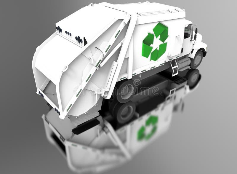 Recicle a reflexão do auto do caminhão ilustração royalty free