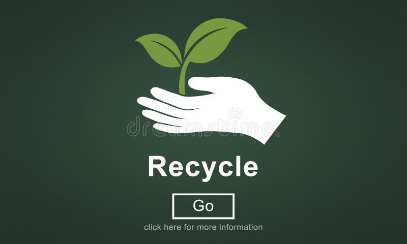 Recicle a reutilização reduzem o conceito do ambiente do ecossistema ilustração stock