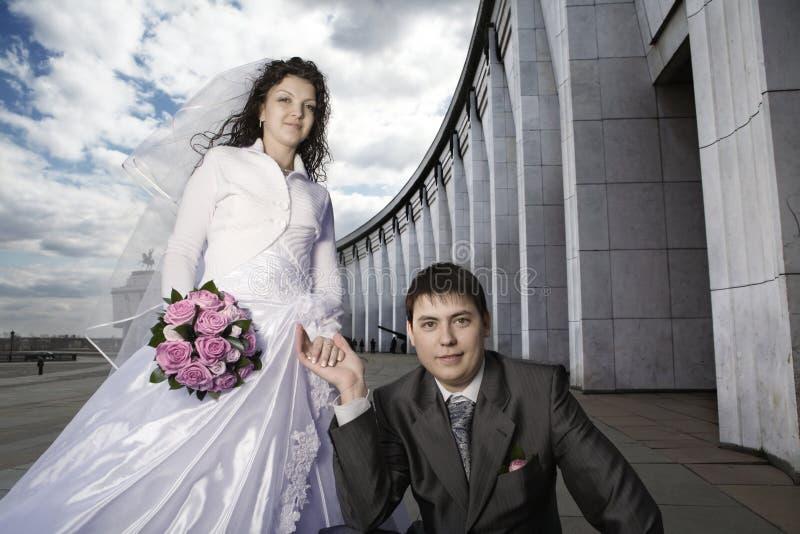 Recienes casados imágenes de archivo libres de regalías