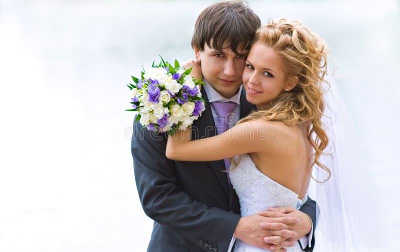 Recienes casados imagen de archivo libre de regalías