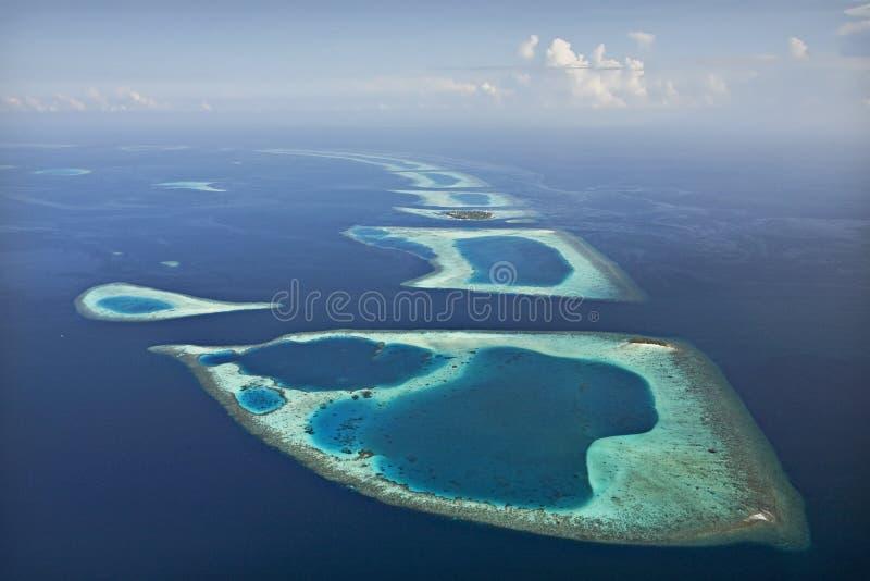 Recife coral e Atoll foto de stock