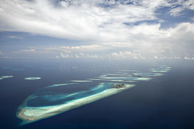 Recife coral e Atoll imagem de stock