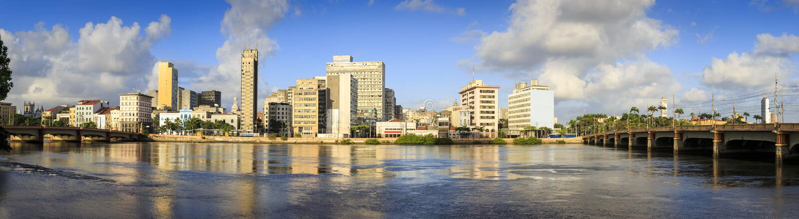 Recife. The historic city of Recife with its buildings date from the 17th century mixed with contemporary architecture royalty free stock photos