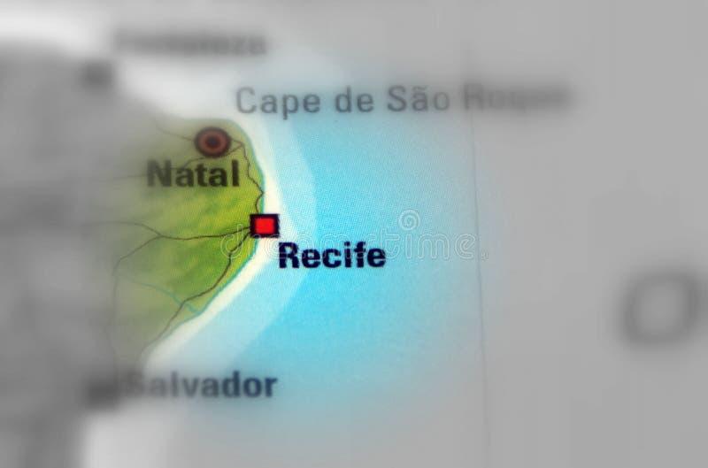 Recife, hoofdstad van de staat van Pernambuco - Brazilië stock afbeeldingen