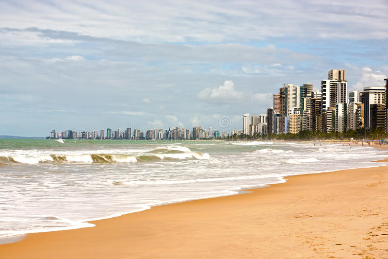 Recife nabrzeża prenambuco Brazil fotografia stock