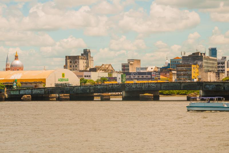 RECIFE, PERNAMBUCO, BRASIL: Recife, a capital do estado do nordeste de Brasil s de Pernambuco, é distinguido por seus muitos rios fotos de stock royalty free
