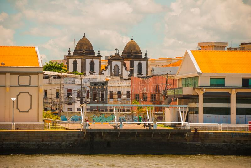 RECIFE, PERNAMBUCO, BRAZIL: Recife, the capital of Brazil s northeastern state of Pernambuco, is distinguished by its many rivers. Bridges, islets and stock photos