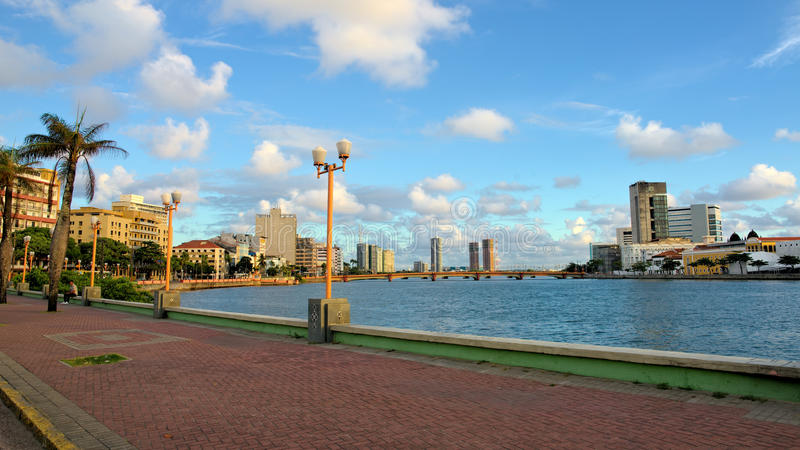 Recife van de binnenstad, Pernambuco, Brazilië stock fotografie