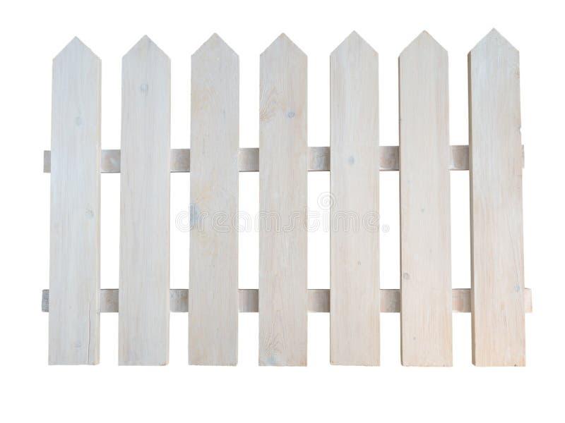 Recinto decorativo dipinto ruvido di legno bianco del giardino del cottage fotografia stock