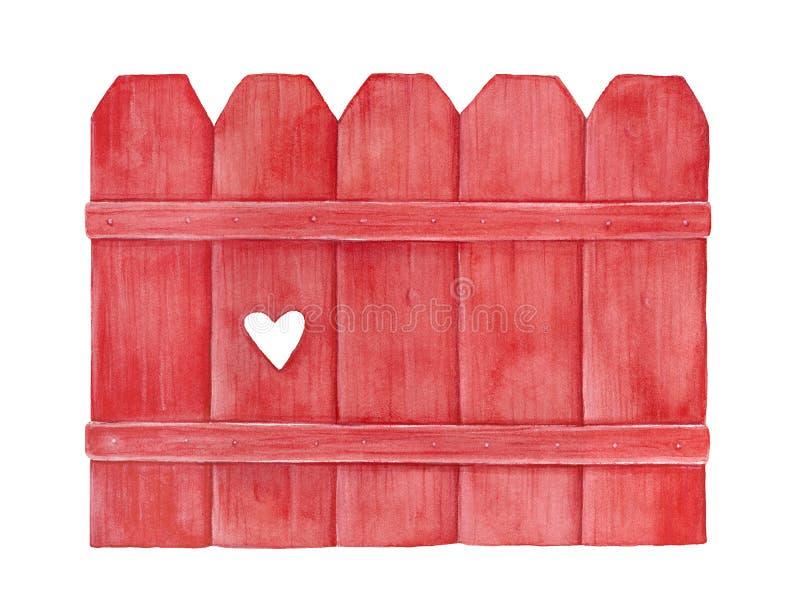 Recinto decorativo rosso luminoso separarsi il cuore di amore fotografia stock