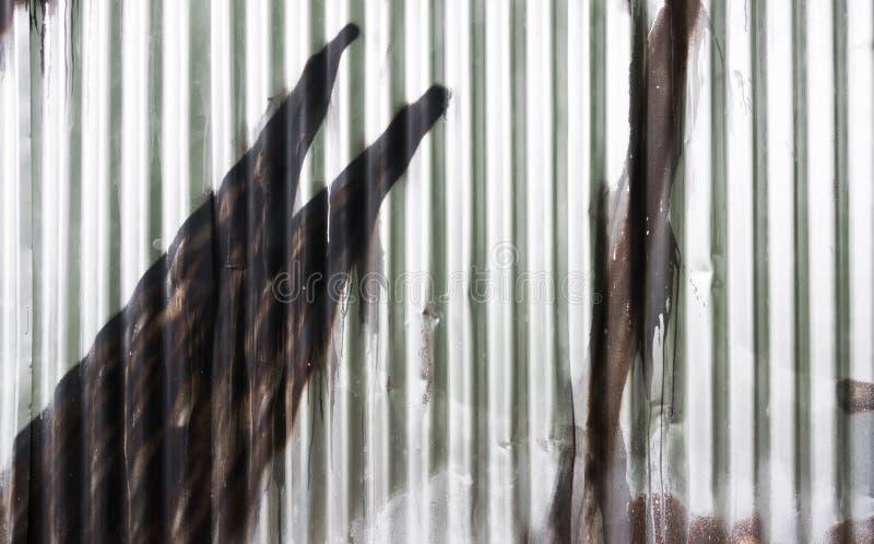 Recinto del ferro ondulato immagini stock libere da diritti