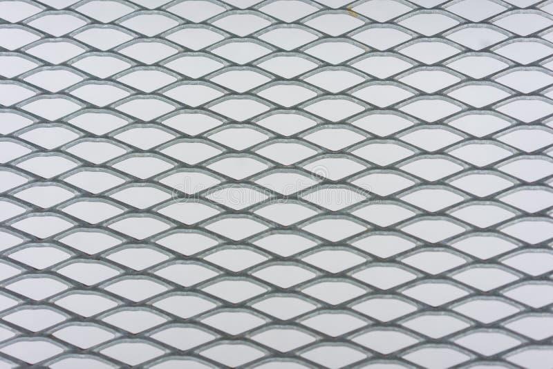 Recinto del metallo con il fondo della neve fotografie stock libere da diritti