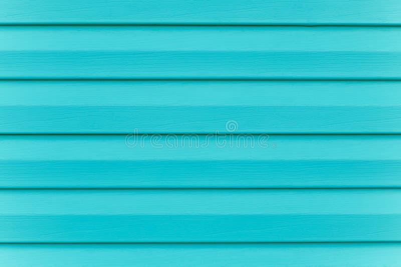 Recinto del turchese Plancia - legname Tavola di legno blu dipinta nelle linee Pannello barrato, superficie, fondo Struttura dell immagine stock