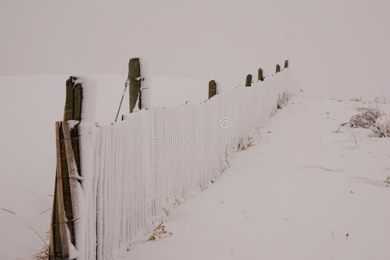 Recinto della neve del Wyoming immagini stock libere da diritti