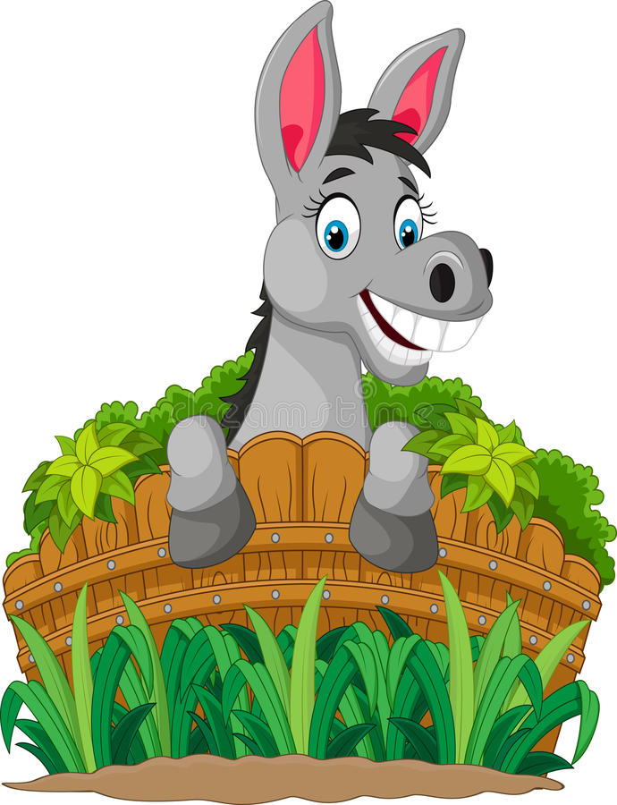 Recinto della tenuta del fumetto dell'asino royalty illustrazione gratis