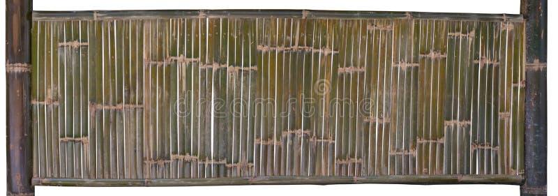 Recinto di bambù verde isolato su fondo bianco Percorso di ritaglio immagine stock