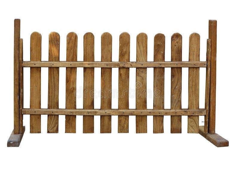 Recinto di legno al ranch isolato su fondo bianco fotografia stock