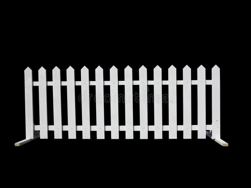 Recinto di legno al ranch isolato su fondo nero fotografia stock libera da diritti