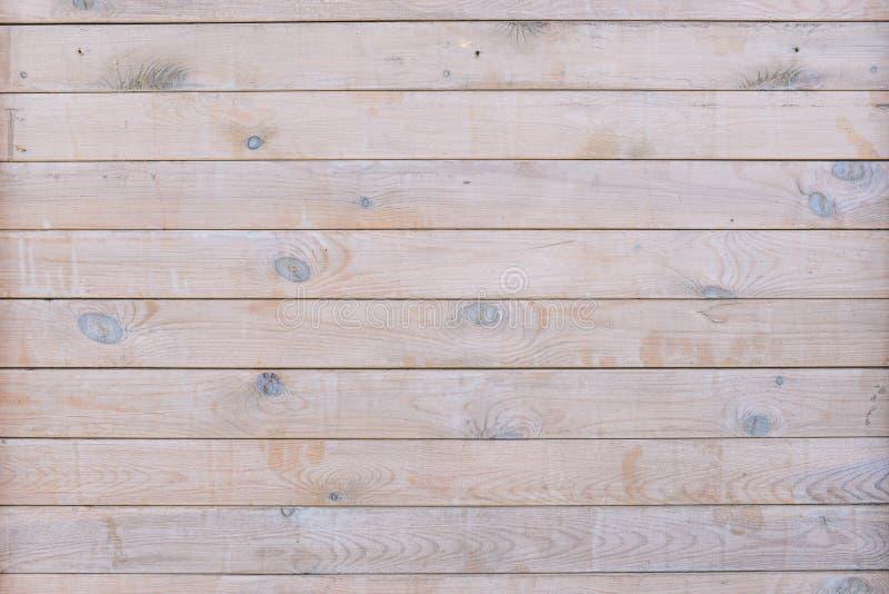 Recinto di legno della plancia dei pannelli piatti orizzontali Struttura marrone di legno Parete di legno vuota Mascherina per il fotografia stock libera da diritti