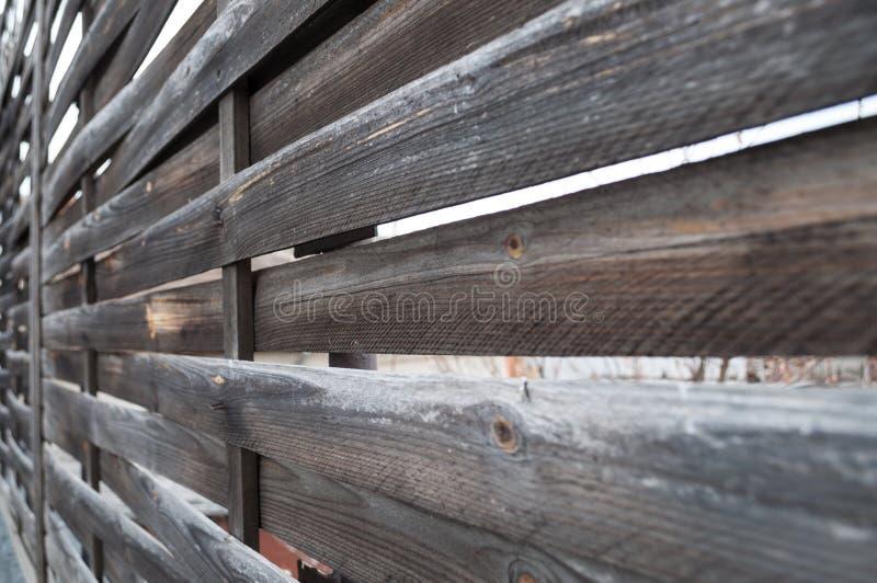 Recinto di legno di Planked - vista orizzontale fotografie stock