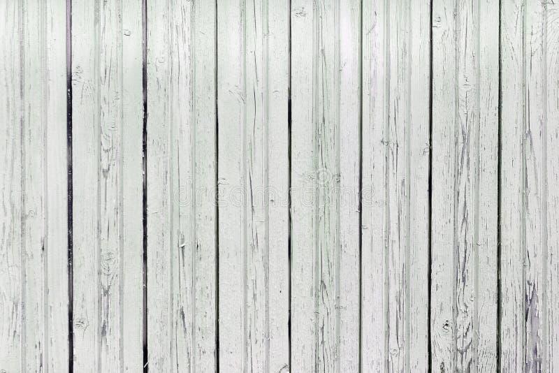 Recinto di struttura dei bordi grigio chiaro Superficie consumata di legno con la pittura della sbucciatura Bello fondo in bianco fotografia stock