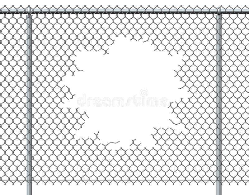 Recinto Hole del collegamento a catena illustrazione vettoriale