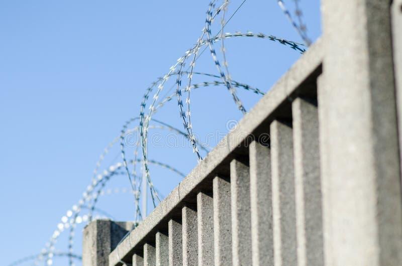 Recinto per il confine con cemento armato fotografia stock