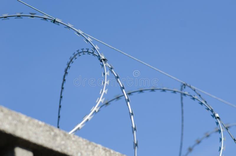 Recinto per il confine con cemento armato fotografie stock