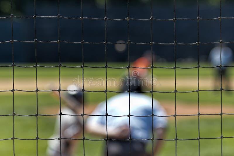 Recinto visto attraverso pastella confusa di baseball fotografie stock