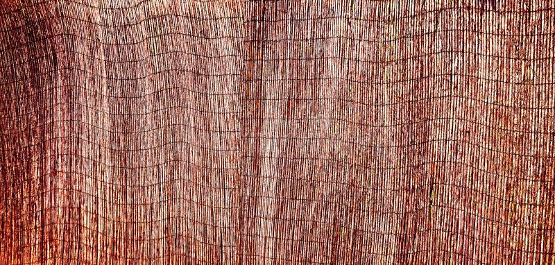 Recinzione dell'elemento, fatta dei barilotti di bambù maturo, dipinti con lacca nera, che finalmente ha pelato e si sfaldata sot immagini stock libere da diritti