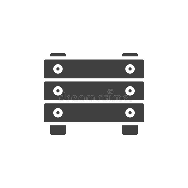Recinzione dell'icona di vettore della barriera illustrazione di stock