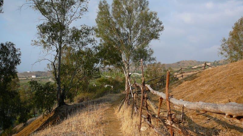Recinzione rurale fotografia stock