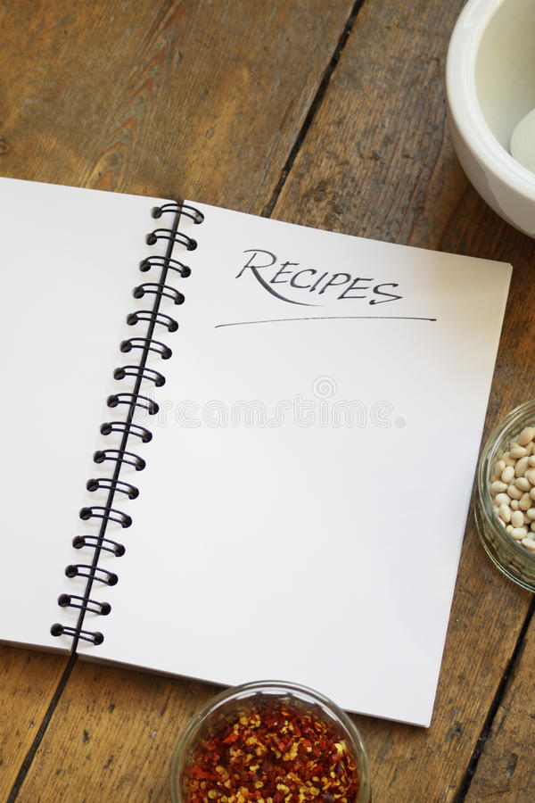 Free Recipe Book Royalty Free Stock Image - 10990436