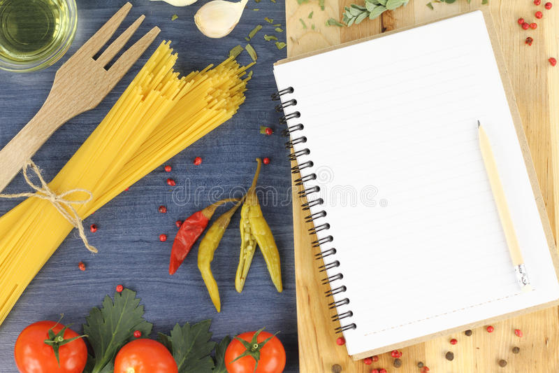 Download Recipe book stock image. Image of diet, noodle, blank - 22412773