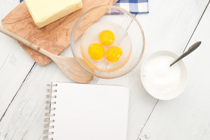 Download Recipe book stock image. Image of eggs, pages, bowl, bake - 24428827