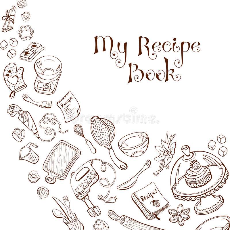 Recipe book template royalty free illustration