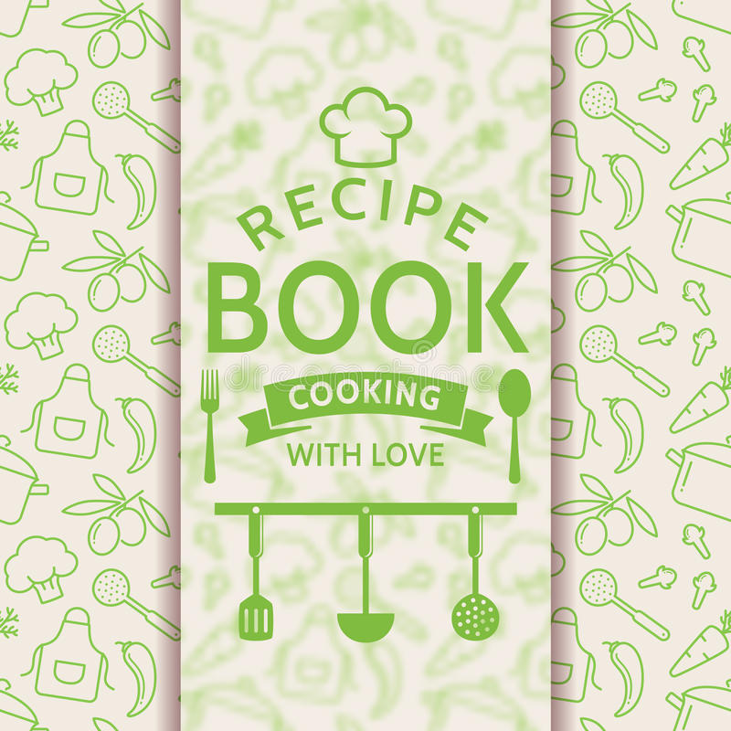 Recipe Book. Vector Card. Stock Vector. Illustration Of Design