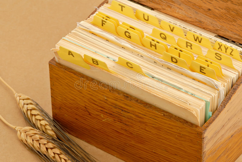 Download Recipe Box stock image. Image of antique, worn, used, aged - 3611115